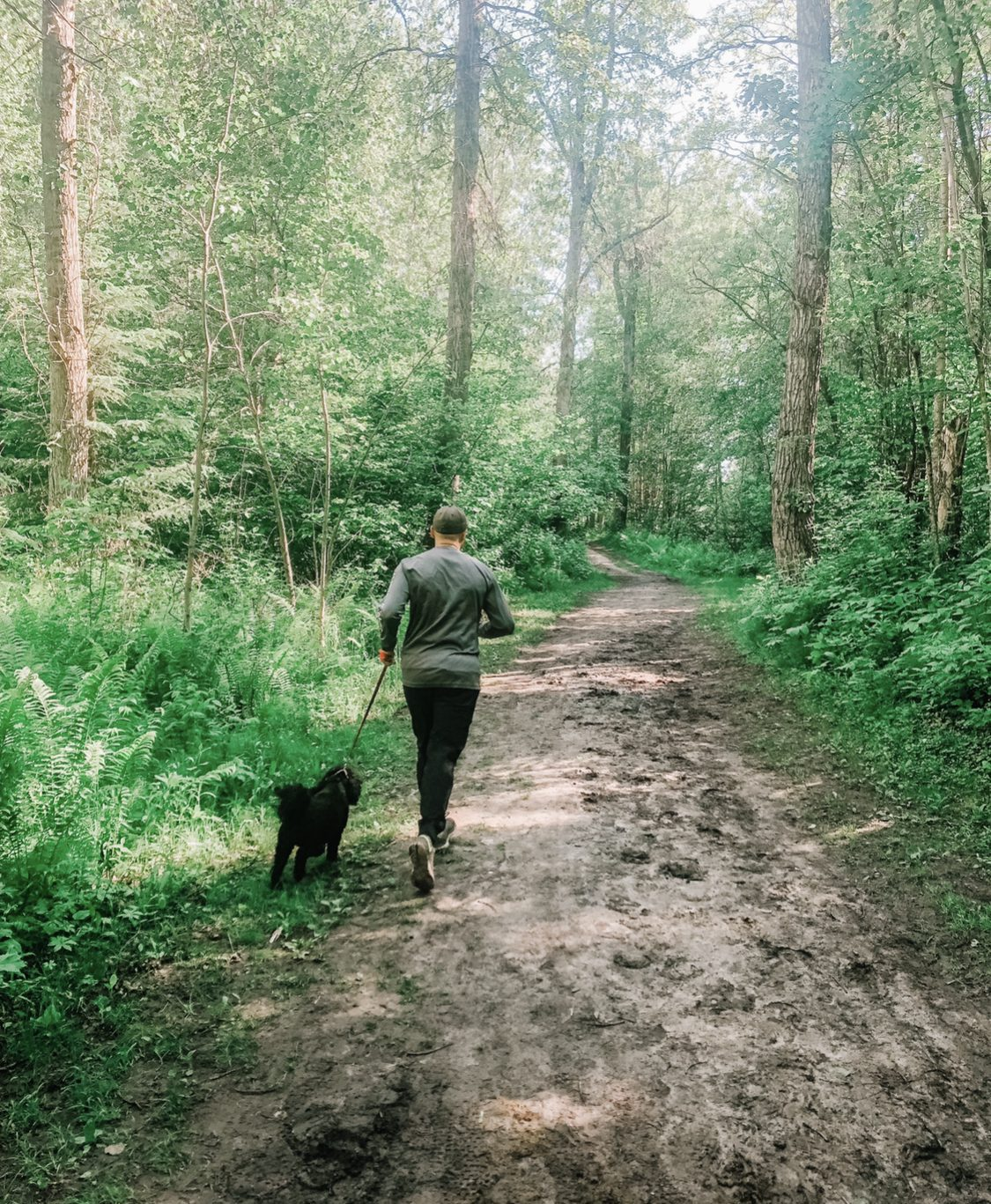 man-jogging-with-a-dog